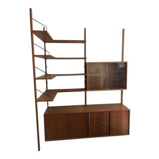 Mid-Century Modern Danish Teak Wall System Made for Corner - 3 Units + Shelves For Sale