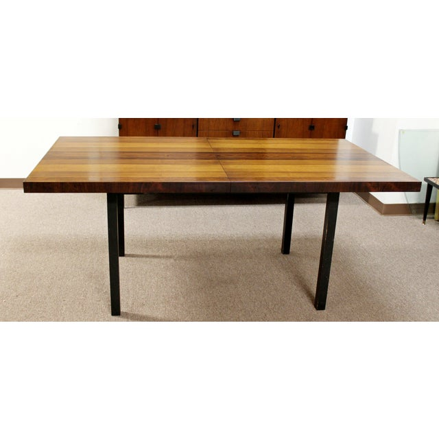 Brown Mid Century Modern Milo Baughman Directional Dining Table Dillinghman 6 Chairs For Sale - Image 8 of 12