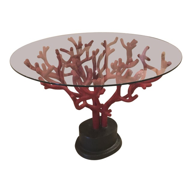 Vintage Coral Table For Sale