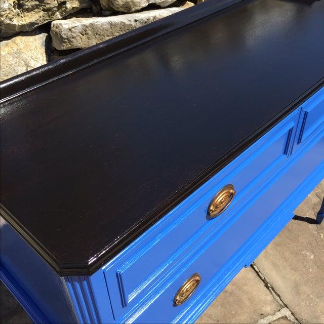 Vintage Blue Painted Sideboard Buffet - Image 6 of 6