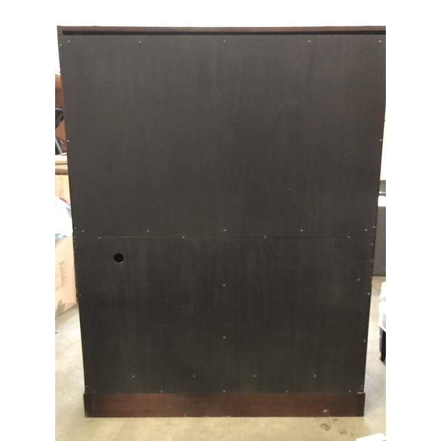 Animal Skin Transitional Thomas Pheasant for Baker Mahogany Armoire Media Cabinet For Sale - Image 7 of 13