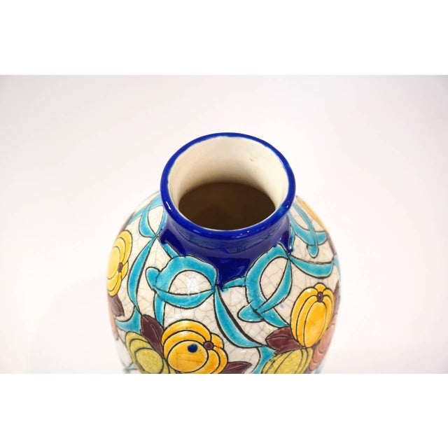Art Deco Charles Catteau Vase for Boch Freres La Louviere For Sale - Image 3 of 5