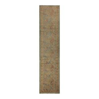 "Kafkaz Peshawar Deonna Blue Gray Wool Rug - 2'7"" x 11'4"""