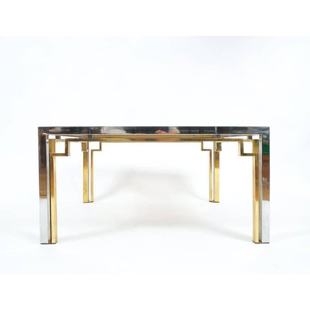 Gold Exquisite Double-Frame Coffee Table Attributed to Romeo Rega For Sale - Image 8 of 9