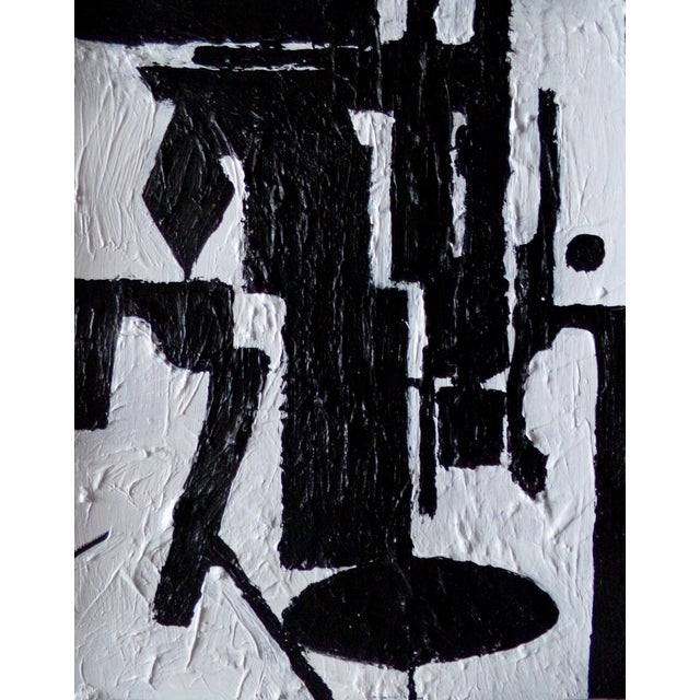 Abstract Contemporary Original Black and White Painting by Brian Elston For Sale