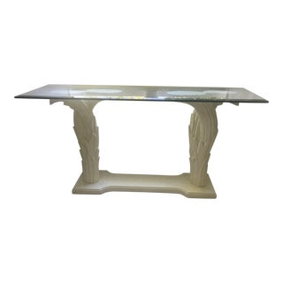 Serge Roche Style Palm Tree Console