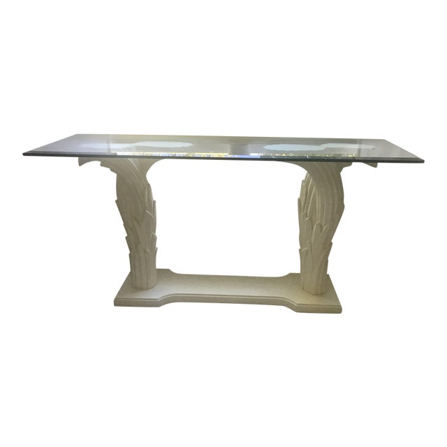 Serge Roche Style Palm Tree Console - Image 1 of 7