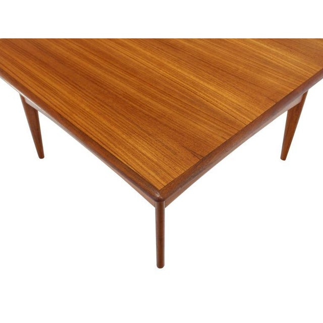 Early 20th Century Danish Mid-Century Modern Teak Square Coffee Side Table For Sale - Image 5 of 8