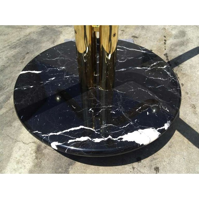 Unique Brass-Marble and Glass Italian Dining Table For Sale - Image 4 of 5