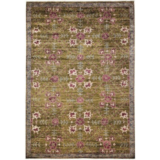 "Oushak, Hand Knotted Area Rug - 6' 4"" x 8' 10"" For Sale"