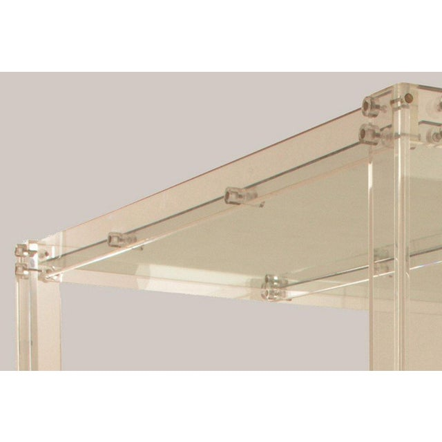 Lucite and Mirrored Top King Size Bed - Image 4 of 11