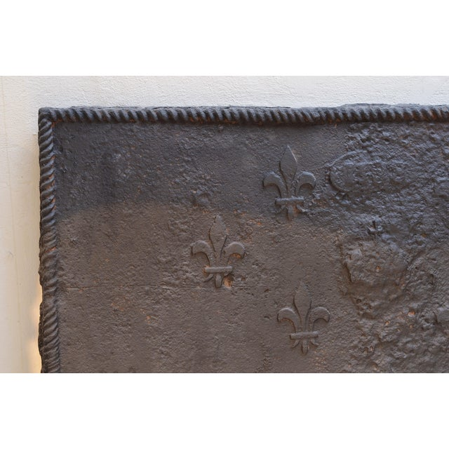 Amazing Rough 18th Century Fireback For Sale - Image 4 of 5