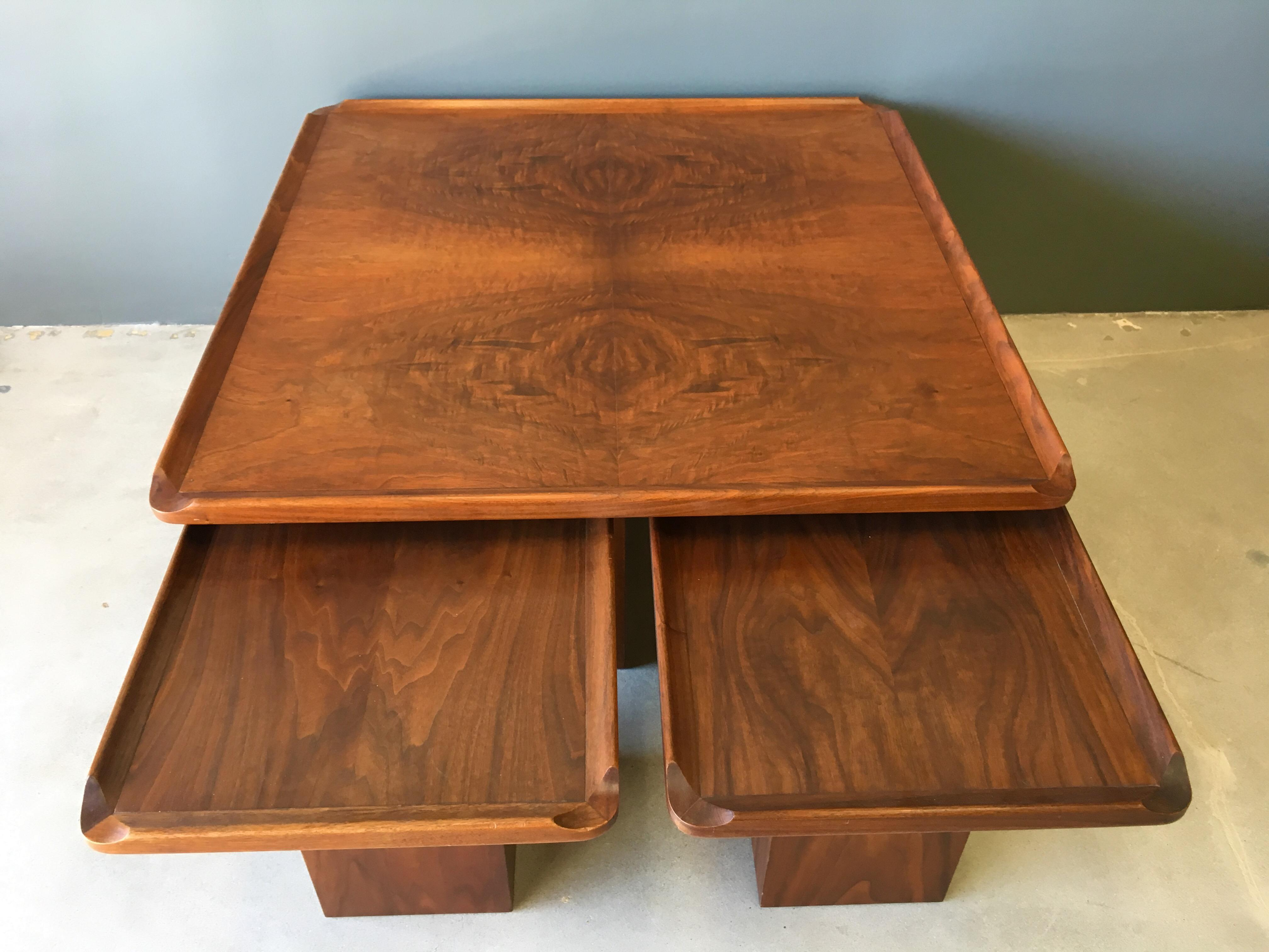 Delicieux Brown Saltman Mid Century Coffee U0026 Nesting Tables   5 Pieces   Image 9 Of