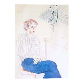 "David Hockney Rare Vintage 1978 Dumont Art Calendar Lithograph Print Poster "" Gregory "" 1974 For Sale"