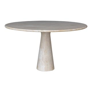 Travertine Table in the Style of Angelo Mangiarotti For Sale