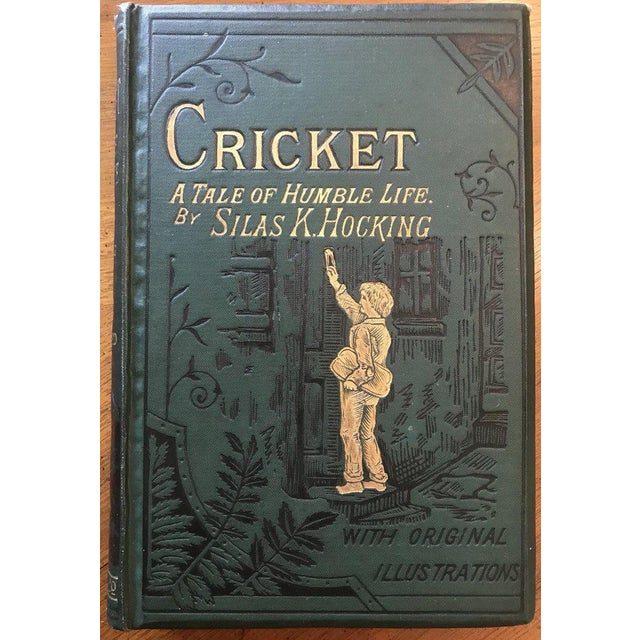 """Early 20th Century Antique """"Cricket:A Tale of Humble Life"""" Book by Silas K. Hocking For Sale - Image 5 of 5"""