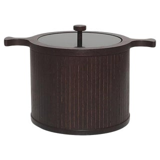 Mid-Century Modern Wenge Wood Ice Bucket
