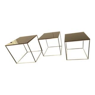 Modern Poul Kjaerholm Pk-71 Nesting Tables - Set of 3 For Sale