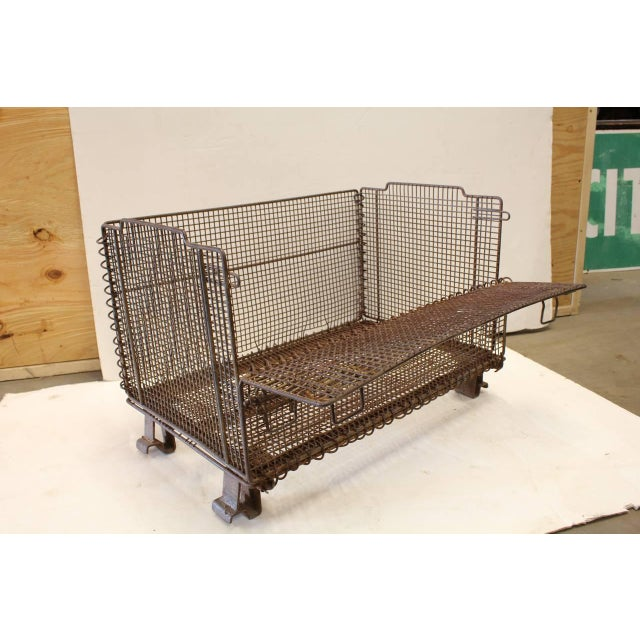 1930's Vintage American Industrial Collapsible Wire Baskets For Sale - Image 4 of 5