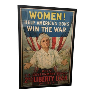 1917 WWI R H Porteous US Liberty Loan Poster For Sale