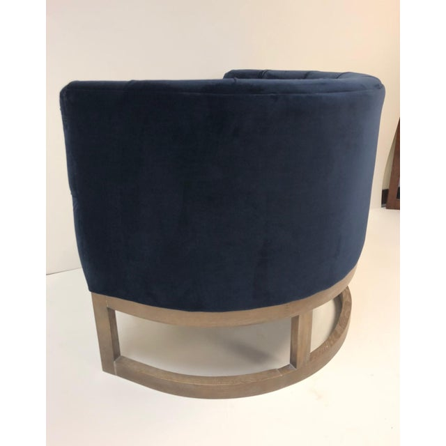 1990s Pair Modern Cerused Lounge Chairs For Sale - Image 5 of 6