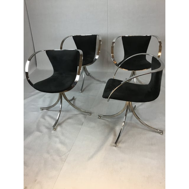 All fabric and chrome in excellant condition. Very sleek and modern