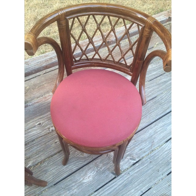 Rattan Bamboo Chairs - A Pair - Image 3 of 4