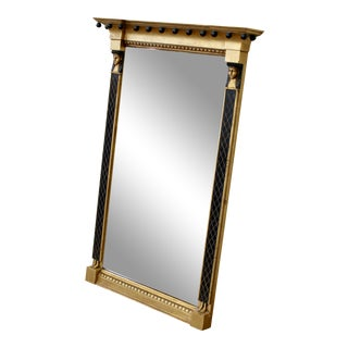 Vintage Egyptian Style Gold and Black Hanging Wall Mirror For Sale