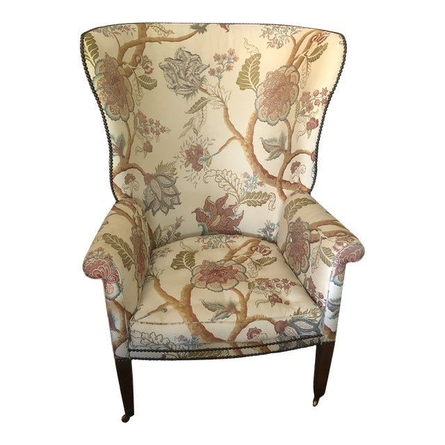 Georgian Style Wing Chairs by William Switzer -A Pair For Sale