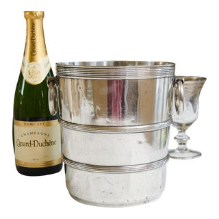 1920s Delmonico's, New York City Champagne Bucket, Hotel Silver For Sale
