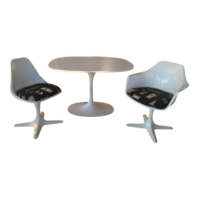 MidCentury Burke Industries Saarinen Style Tulip Table Chairs - Chairs for tulip table