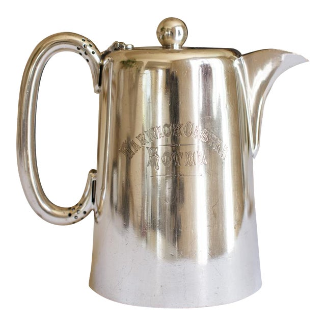 Antique Sheffield Warwick Castle Hotel Uk Coffee Pot - Image 1 of 8