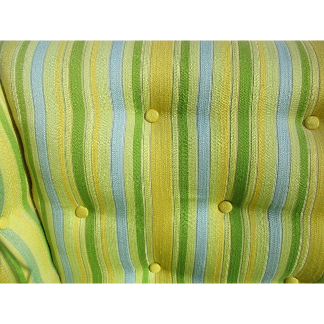 Fabric Vintage French Striped Sofa For Sale - Image 7 of 12
