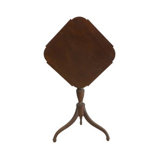 Federal Mahogany Tilt Top Candlestand Table circa 1815 For Sale