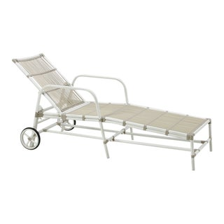 Josephine Exterior Sun Lounger - Dove White For Sale