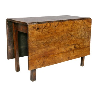 George III Solid Yewwood Drop Leaf Table For Sale