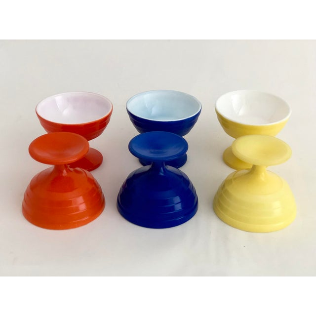 Contemporary 1970s Mid-Century Modern Glass Parfait Dishes - Set of 6 For Sale - Image 3 of 5