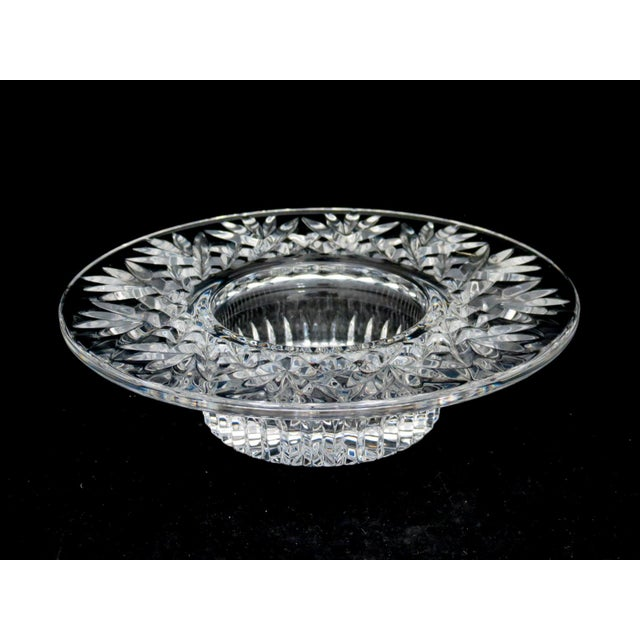 Waterford Crystal Waterford Pillar Candle Holder/Wine Coaster For Sale - Image 4 of 11