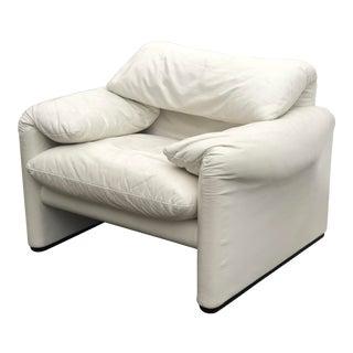 "1980s Vintage Vico Magistretti ""Maralunga"" Chair for Cassina For Sale"