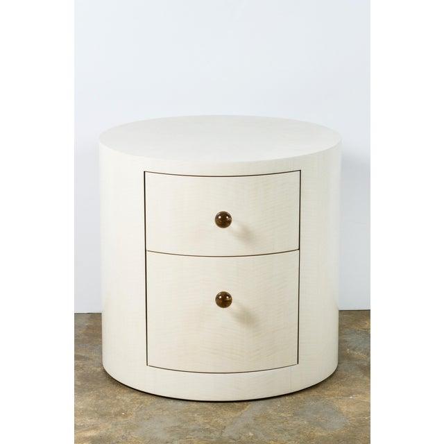 Italian-Inspired 1970s Style Round Nightstand - Image 2 of 8