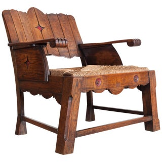 Sculptural Arts & Crafts Lounge Chair