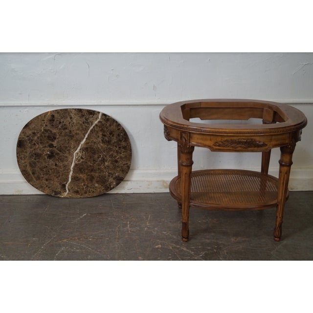 Marble Top Side Table For Sale - Image 4 of 10