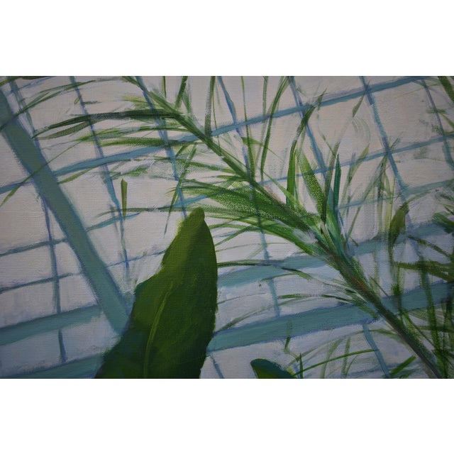 """Stephen Remick """"Greenhouse in Winter"""" Contemporary Painting by Stephen Remick For Sale - Image 4 of 11"""