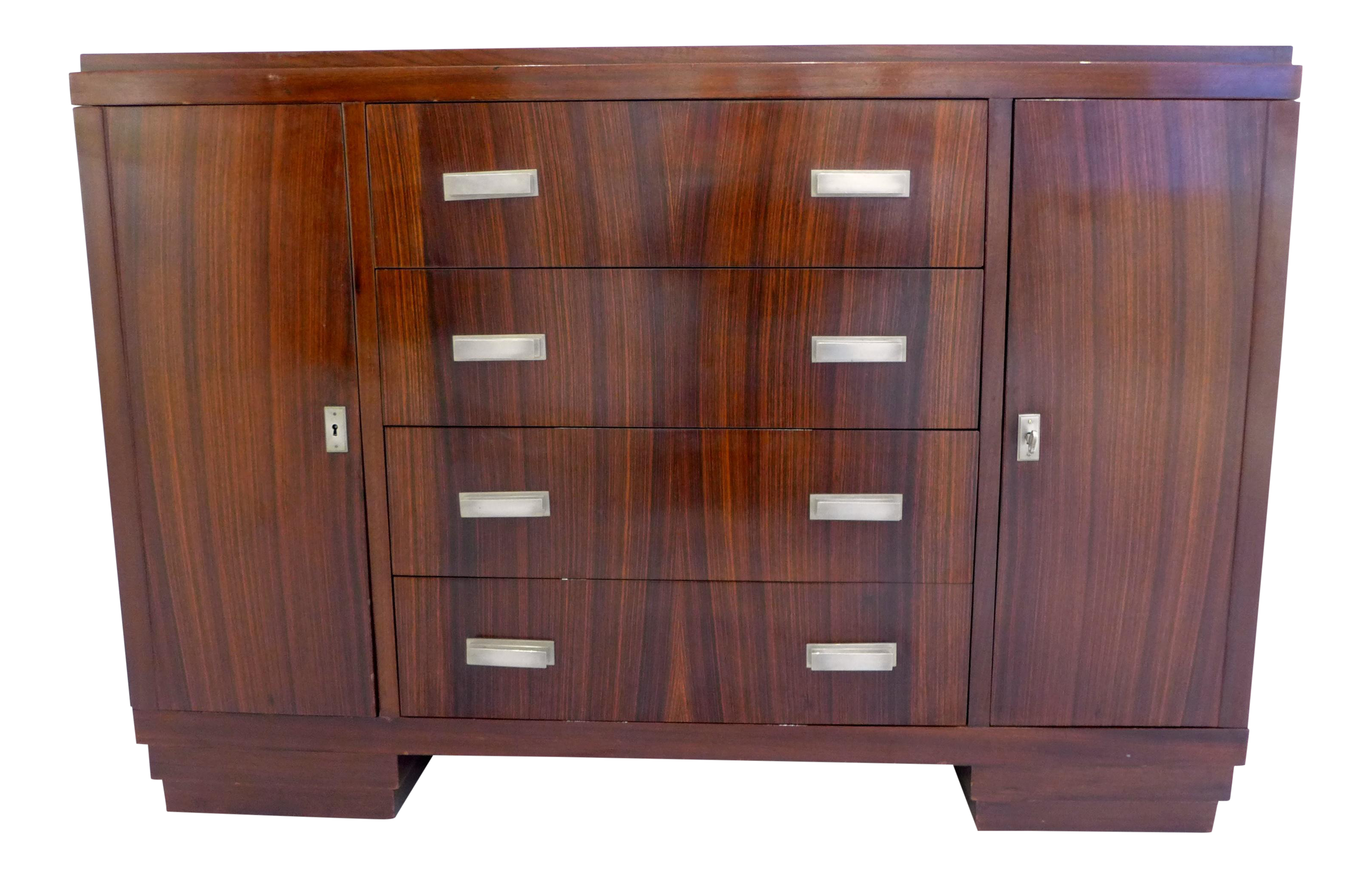 French Art Deco Cabinet In Macassar Ebony   Image 1 Of 10
