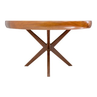 Round Dining Table From Brazil, 1960s For Sale