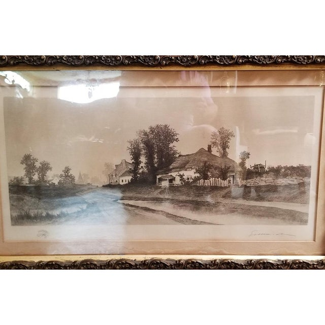 19c New York Signed Etching by Ernest Christian Rost 1891 For Sale - Image 4 of 9