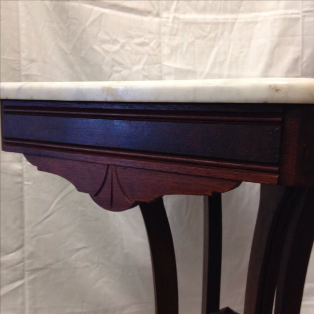 Antique Art Deco Table With Marble Top - Image 3 of 6