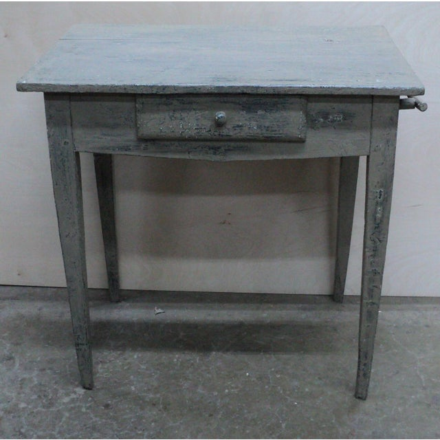 Mid 19th Century 19th Century French Country Work Table in Old Paint For Sale - Image 5 of 10