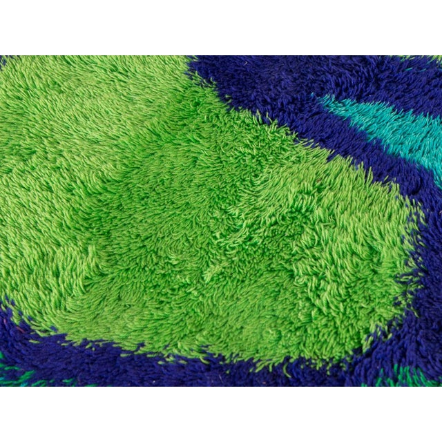 Large Mod Abstract Scandinavian Rya Rug For Sale In New York - Image 6 of 8