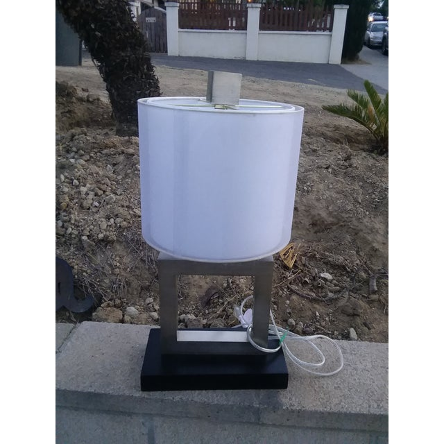 Metal Modern Minimalist Square Table Lamp For Sale - Image 7 of 9